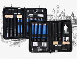 Nuevo kit de herramientas de dibujo para bocetos profesionales con lápices de pastel de grafito.