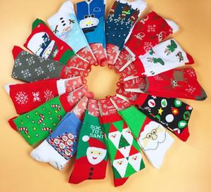 Chaussettes de Noël Coton Femmes Hommes Nouveau 2019 Automne Hiver Nouvel An Santa Claus Arbre De Noël Tree Neige Cadeau Happy Chaussettes Peonfly