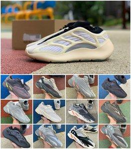 3M reflexiva 700 do corredor da onda Kanye West v2 Cinza contínuo estáticos Magnet Teal Carbono Azul Runing sapatos masculinos desenhista calça Mulheres estática Sapatilhas