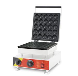 Yeni ticari 25 adet kapak, 110v 220v Mini Waffle makinesi, yeni tasarım paslanmaz çelik gözleme koni makinesi ile ızgara makinesi poffertjes