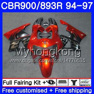 Kit para HONDA CBR900RR CBR 893RR 1994 1995 1996 1997 Cuerpo 260HM.34 CBR 893 CBR900 RR CBR893 RR Naranja plata CBR893RR 94 95 96 97 Carenado