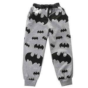 Pudcoco 2-7T nuevo juego del niño Niños Boy pantalones casuales ropa de deporte de los muchachos frescos para niños de dibujos animados de Batman Pantalones