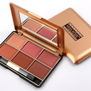 Mineral 6-Color Blusher Palette Professional Blush Fashion Face Makeup of South America and Aisa Colors MISS ROSE