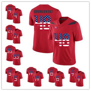 Mens Arizona Wildcats jerseys 48 Rob Gronkowski 5 Shaquille Richardson 19 Shawn Poindexter EE.UU. Bandera balompié Jersey