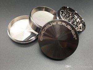 Metal CHROMIUM CRUSHER grinder Crusher Grinder Zink 63mm 4pc zicn alloy smoke tobacco herbal herb grinder for smoking dry herb