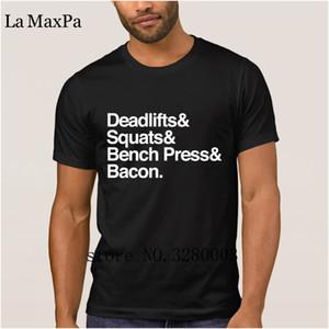 Designing nice men's t shirt deadlifts squats bench press bacon mens t-shirt 2018 Vintage mens tee shirt Clothes hip hop