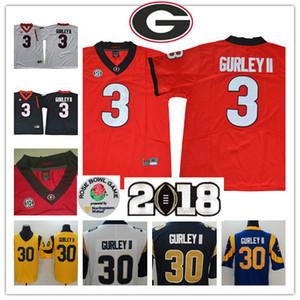 NCAA # 3 Todd Gurley II Georgia Bulldogs Escuela de Fútbol jerseys # 30 Todd Gurley LA jerseys S-3XL