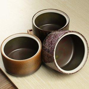 Tea packaging box ceramic tea caddy colorful PU millenum er tea cans 750ML Large sealed storage tank