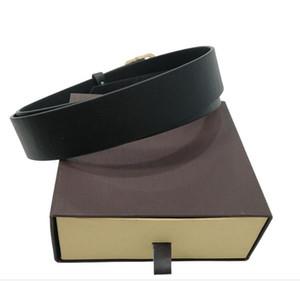 2021 패션 큰 버클 정품 가죽 벨트 상자 디자이너 럭셔리 남성 여성 고품질 망 벨트