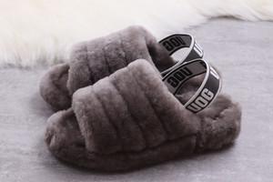 2019 Quality Fashion Trend Single Velvet Sandali e pantofole Design Interruttore, pantofole casual, morbido e confortevole 36-41