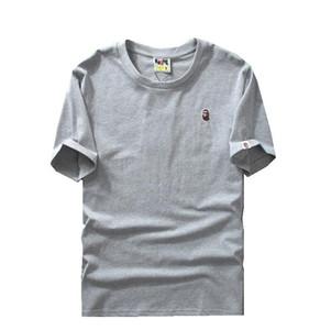 Camiseta blanca de manga corta con estampado de camuflaje para el amante Hombres europeos y americanos Mujeres con personalidad suelta Camisetas cortas creativas