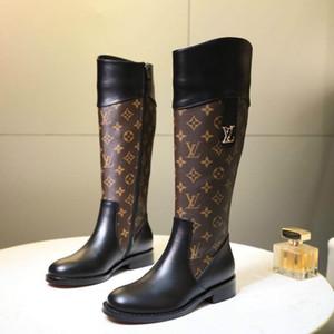 Осень и зима последние модные женские сапоги высокого класса оригинальные классические старые цветы дикие повседневная обувь Женские сапоги