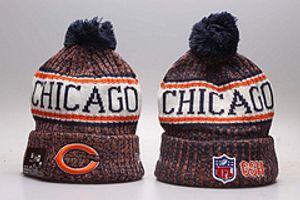 neue Art Cleveland Football Mützen Team-Hut Winter hat Beliebte Braun Beaniekappen Caps Schädel beste Qualität Frauen Männer Warm Sports Caps