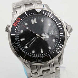 Luxe 300m professionnel James Bond 007 Dial Montre maître Co-Axial automatique Movment inoxydable Bracelet Sport Hommes Montres bracelet