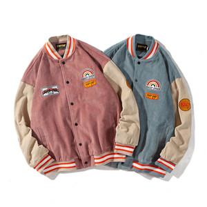 Erkekler Yeni Sonbahar İlkbahar Kadife Ceket Erkek Kadınlar Streetwear Hip Hop Retro Moda Gevşek Genç çift Ceket Palto