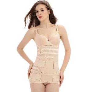 3in1 Göbek / Karın / Pelvis Doğum sonrası Kemer Vücut Kurtarma Shapewear Göbek İnce Bel Cinchers Nefes Bel Eğitmeni Korse