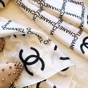2020 pañuelo de seda al por mayor de moda de la señora suave pañuelo de seda impresa y la luz, bufanda de seda femenina decorativa 190 * 90cm