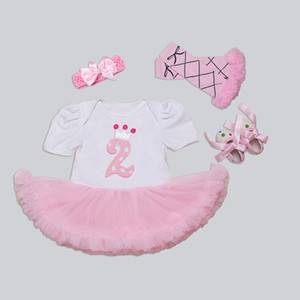 Newborn Clothing Set Summer Girls Infant Dress Bodysuits Headband Warmer Shoes Tutu Romper Set 4 Pieces Bebes Roupas De Menina