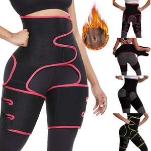 UPS US-Frauen Shapers Waist Trainer 3-in-1-Schenkel-Trimmer Bodysuit BuLifter Body Shaper Arm Gurt-Taillen-Unterstützung Sport Trainings-Schweißbänder