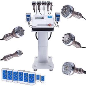 6in1 RF радиочастотная вакуума лазера 40K Ультразвуковая кавитация БИО кожи Затянуть Потеря веса тела для похудения машина SPA