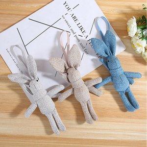 New Stroller Crib Hanging Doll Toys with Clip Soft Plush Cartoon Animal Deer Elephant Dear Baby Rattle Grasp Doll Toy