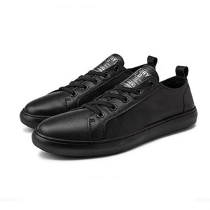 NEW luxe little white shoe women's platform casual shoes couple leather men's shoes large size high quality version cowhide A25
