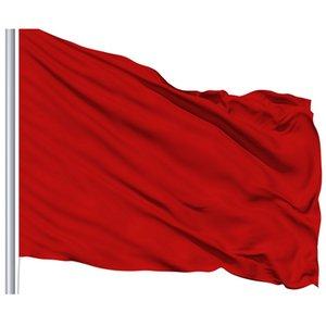 Personalizzato 90x150cm Red Flag Solid Red Flag Pure Vivid bandiera colore Bandiere 3x5ft Hanging Qualsiasi stile decorativo Volare, trasporto libero