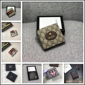 19FW la cartera de los hombres hecha de cuero genuino corto cerrojo carteira masculina monedero 2019 de lujo masculino billetera hombre erlek MADAI