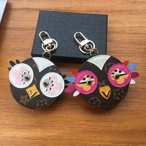 Carino Gufo Keychains Designer Pelliccia di Pelliccia Animale Pulcino Portachiavi Catena Catena Charms Leather Coin Cards Card Tasti Portabicchieri Borsa Zipper Pocket Pendant No Box