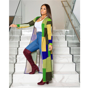 Womens Autumn Desinger Plaid Sweater Long Sleeve Cardigan Fashion Style Female Clothing Knits Tees Casual Apparel