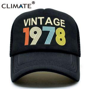 KLIMA 1978 Cap Jahrgang 1978 Jahrgang Fernlastfahrerkappen- Männer Retro 40. Geburtstags-Geschenk Baseballmütze Schwarz Coole Trucker Caps Hut für Männer T200615