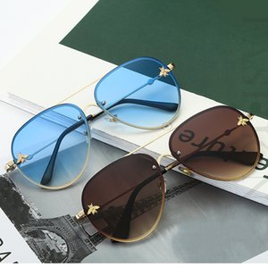 2019 Classic Brand Designer Pilot Sunglasses Women Men Vintage Driving Small Bee Mirror Sun Glasses For Female Oculos UV400