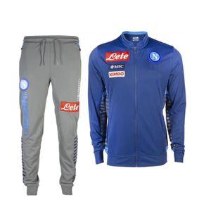 2019/2020 Napoli succursuit Hamsik insigne Callejon Zielinski 19/20 SSC Naples Long Long Zipper Jacket Set 2019 Football Veste costume