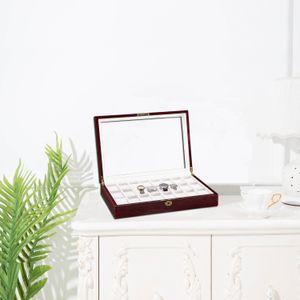 Creative wooden case watch display cabinet glass gyro jewelry storage box gift watch box jewelry box storage display boxs wooden boxs