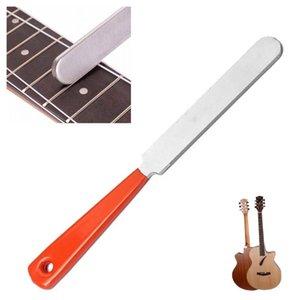 Arquivo guitarra inoxidável Steel Guitar Fret coroação Limite duplo Borda Tools File Limite duplo corte Handle Ferramenta de Borda Com Rubber