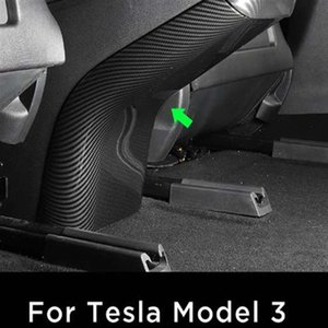 For Tesla Model 3 Car Interior Decoration rear seat kick protective cover Armrests Kick Rear Seat Anti-kick Protection Modified accessories