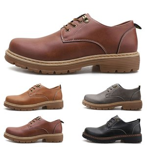 Fashion Large size 38-44 new men's leather men's shoes overshoes British casual shoes free shipping Espadrilles three