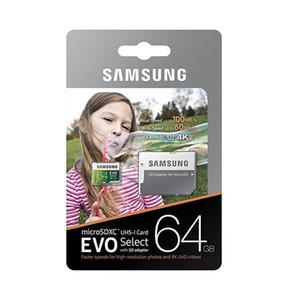 16 Go / 32 Go / 64 Go / 128 Go / 256 Go Samsung EVO Select Plus carte micro SD / TF réelle capacité U3 / Smartphone carte de stockage de 100 Mo