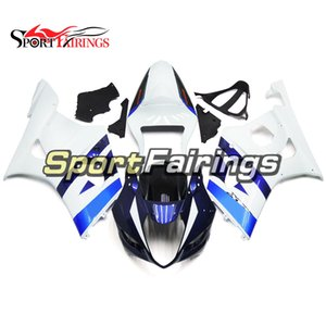 Complete Motorcycle Fairings Kit For Suzuki GSXR1000 2003 2004 GSX-R1000 K3 03 04 Injection ABS Plastic Bodywork Blue White Covers Kits