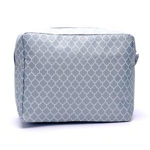 Ingrosso grande Quatrefoil cosmetici borsa da viaggio articoli da toilette Borsa Accessori Organizzatore rettangolo Casi DOM123
