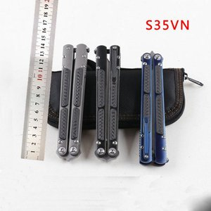 Haut de gamme couteau en alliage de titane couteau papillon BM Theone classique SWING lame S35VN montage CNC 59HRC BM42 BM62 couteaux Montage outil edc
