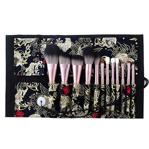 12pcs Pro Face Cosmetic Powder Makeup Brush Foundation Tool with Storage Case
