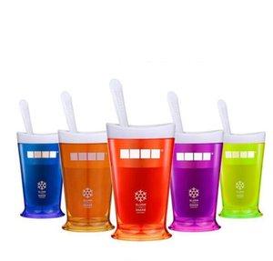 Dondurma Slush sallayın Maker Slushy Milkshake Smoothie Kupa Çocuk Yaratıcı Yeni Meyve Suyu Kupa Meyveler Kum Bardaklar Araçlar GGA3410-3