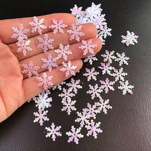2-3cm Snowflakes 200 / 300pcs árvore de Natal Decoração Para Casa partido plástico branco de neve artificial Tabela presente Handmade DIY