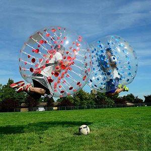 Yetişkin çocuklar için Şişme Emniyet Çevre Koruma 0.8mm PVC 1.5m Hava Tampon Topu Vücut Zorb Topu Kabarcık futbol topu kinetik oyuncaklar