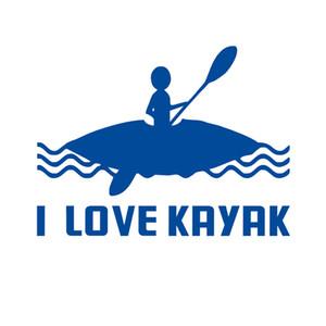 Je AIME KAYAK décalque d'autocollant pour bateau Canoë kayak fenêtre.
