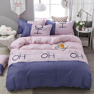 Antlers Bedding Set per le ragazze dolce romantico rosa copripiumino matrimoniale due piazze maggiorato Doppio completa singolo copertura comodo letto con federa