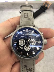 De pulso de luxo relógio couro pulseira montres Mens Watches Alta Qualidade Top Sport Quartz VK Cronógrafo estrondo pour hommes