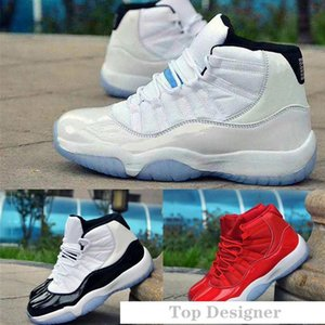 2020 Mens Basketball Shoes Concord Platinum Tint 11 Space Jam Gym Red Win Like 96 XI Women Designer Sneakers Men Sport Shoes T1C3