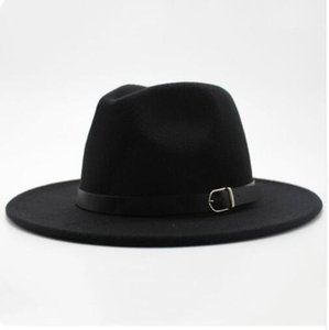2020 Winter Autumn Imitation Woolen Women Men Ladies Fedoras Top Jazz Hat European American Round Caps Bowler Hats7ce5#